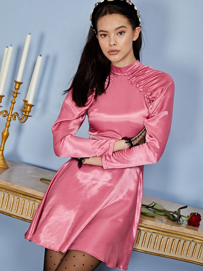 Empress Satin Mini Dress