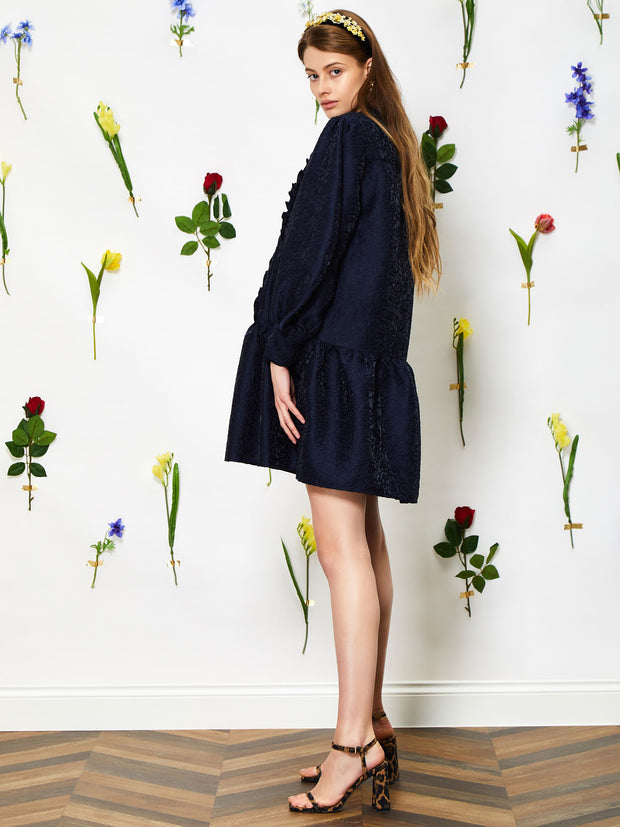 Peony Blue Smock Dress