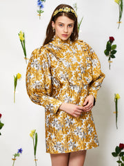 Golden Fable Jacquard Dress