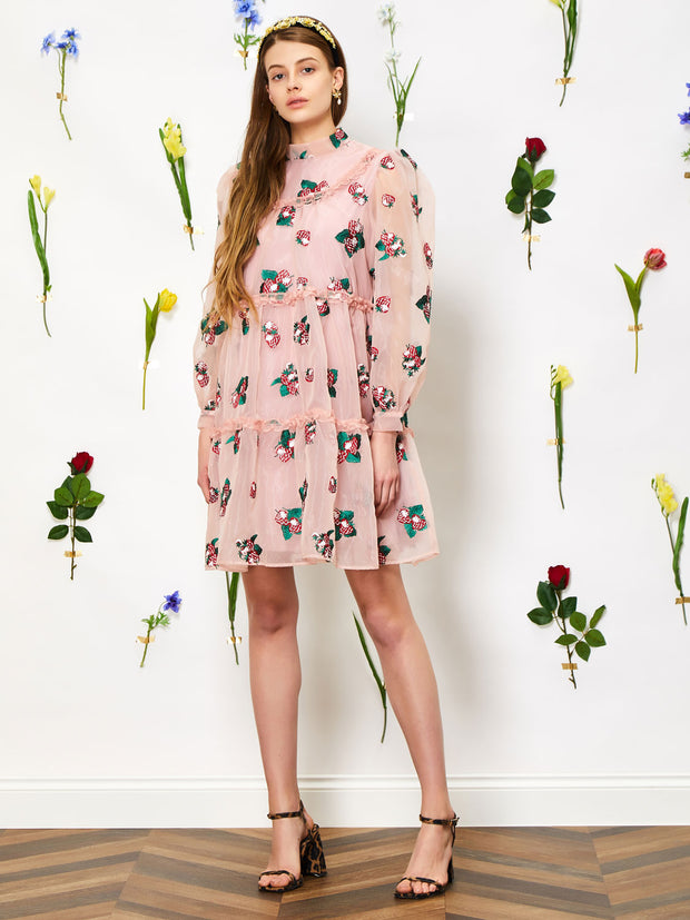 Strawberry Lane Tiered Smock Dress