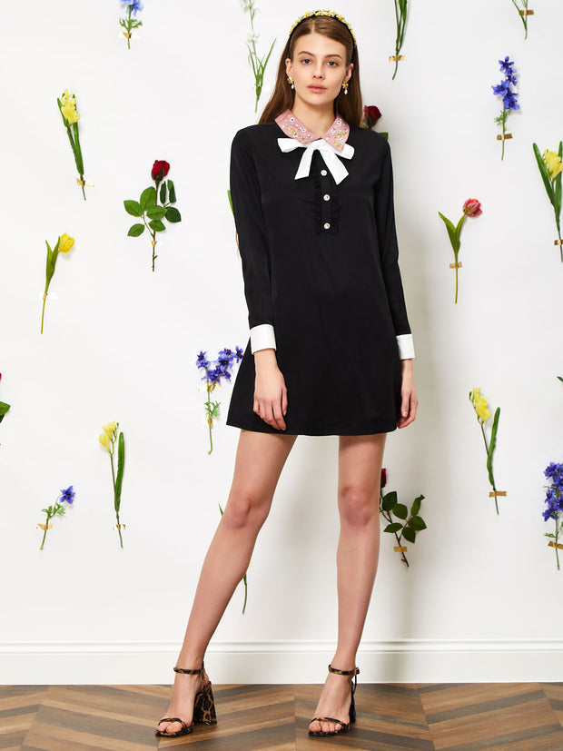 Jewel Floret Mini Shift Dress