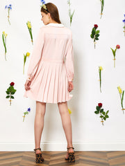 Sweetheart Pleated Mini Dress