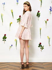 Petal Tweed Mini Dress