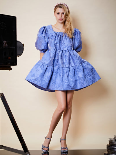 Award Jacquard Mini Dress