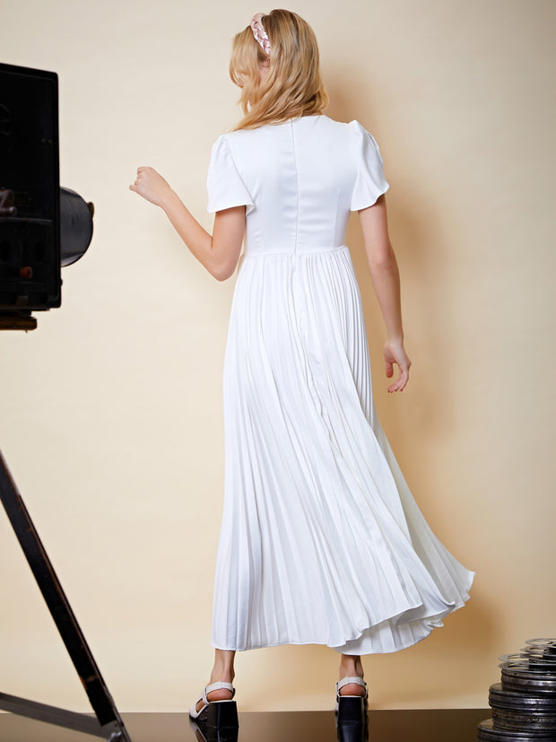 Marilyn Pleated Maxi Dress