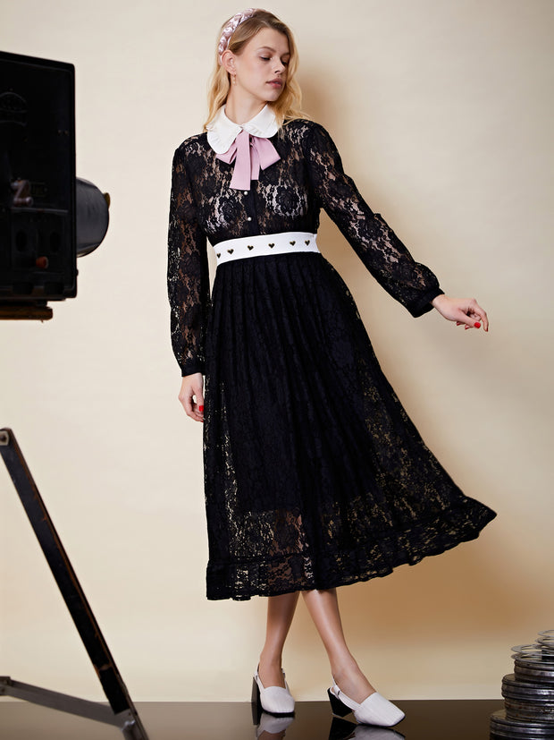 Capture This Lace Midi Dress