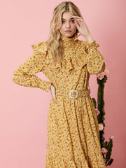 Prickly Pear Belted Midi Dress