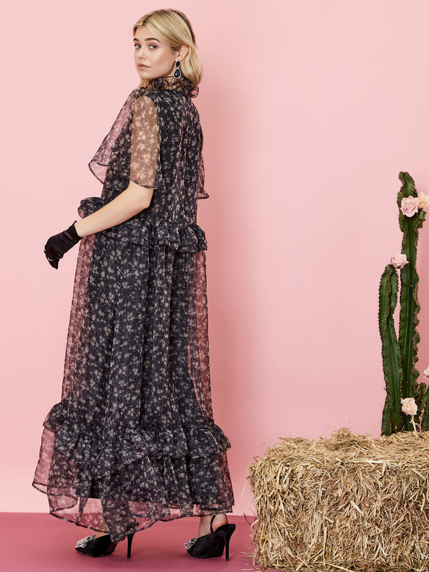 First Rodeo Ruffle Maxi Dress