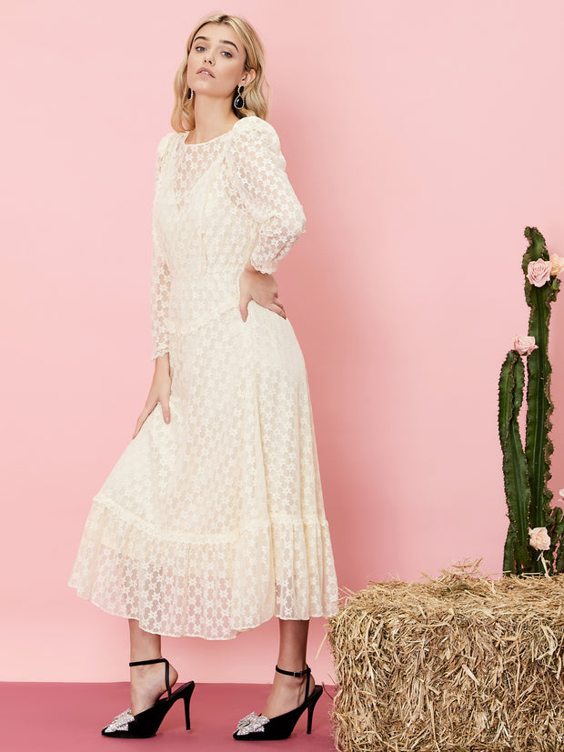 Country Icon Lace Midi Dress