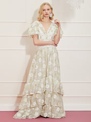<b>DREAM</b> Lasso Flora Ruffle Hem Maxi Dress