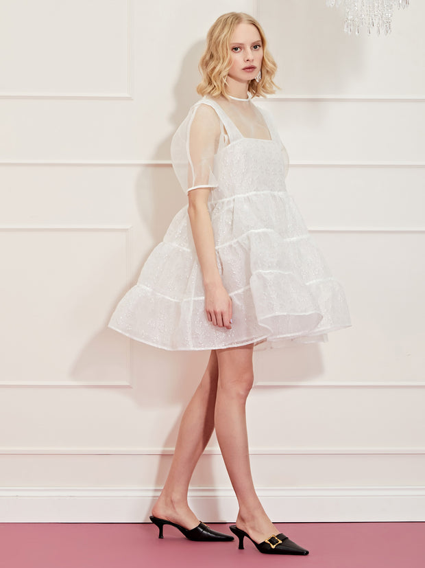 <b>DREAM</b> Heart Strings Tiered Mini Dress