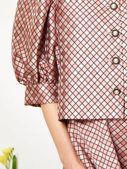 Daphne Diamond Puff Sleeve Jacket