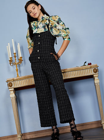 Throne Tweed Jumpsuit