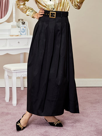 Quarters Maxi Skirt with Belt