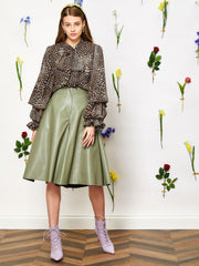 Greenery Faux Leather Culottes