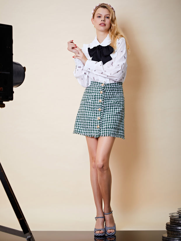 Spotlight Tweed Mini Skirt