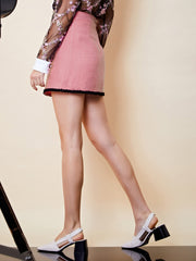 Fame Walk Tweed Micro Skirt