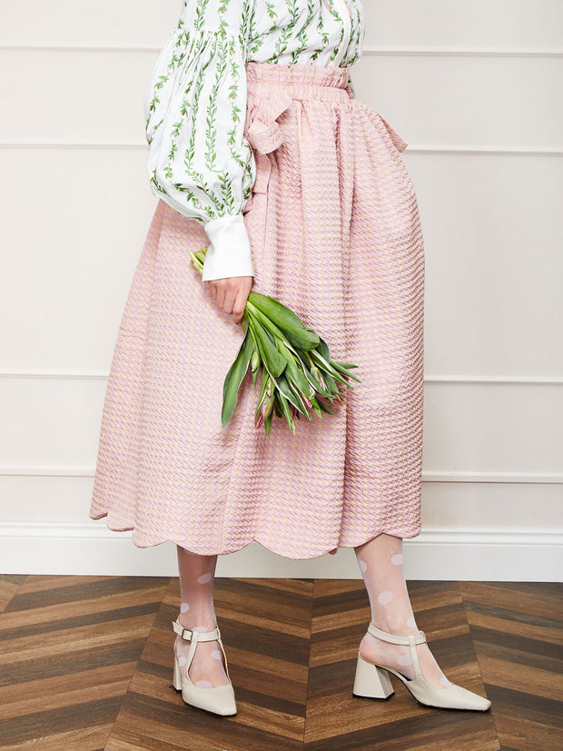 <b>DREAM</b> Rosy Ray Cropped Skirt