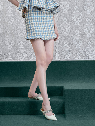 <b>DREAM</b> Weave Away Tweed Mini Skirt