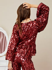 Slumber Sequin Peplum Top