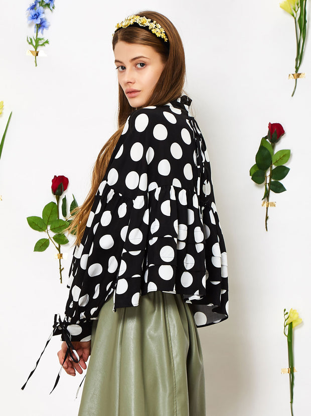 Perennial Cropped Smock Top