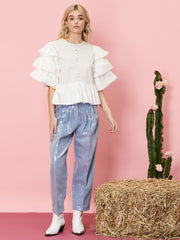 Angel Folk Tiered Sleeve Top