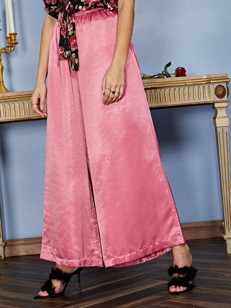 Empress Satin Wide Leg Trousers