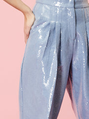 Lucky Sequin Peg Trousers