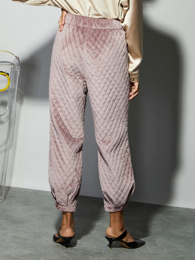<b>Ghospell</b> Step Out Quilted Trousers