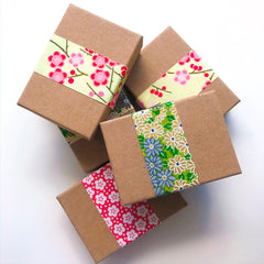 gift boxes using yuzen washi paper