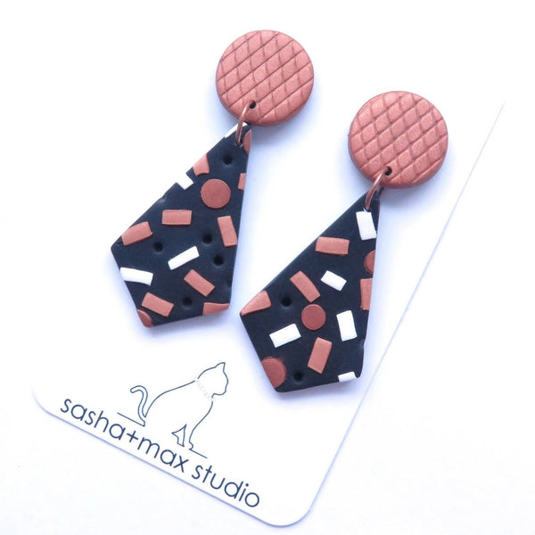 Confetti pattern earrings
