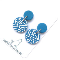 Mega Memphis Blues Earrings - small disc