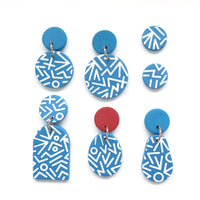 Mega Memphis Blues Earrings - pear