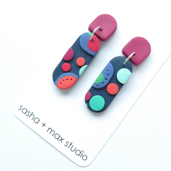 Dots multicolour earring - long drop