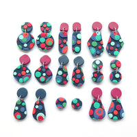 Dots multicolour earring - stud