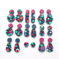 Dots multicolour earring - Pear and square