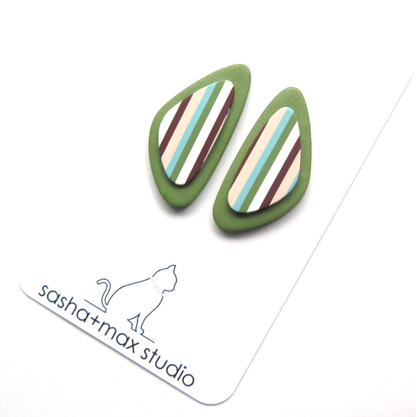 Stripealicious Freeform statement earrings