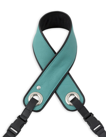 Turquoise Leather Camera Strap - Abie Straps - 1