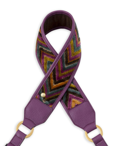 Purple Chevron Camera Strap - Abie Straps - 1