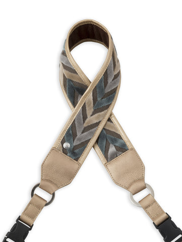 Blue and Gold Chevron Camera Strap - Abie Straps - 1