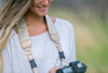 Champagne Leather Camera Strap