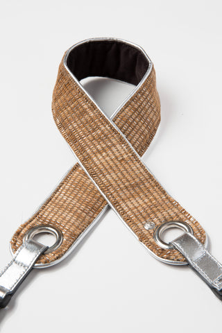 Metallic Tweed Camera Strap - Abie Straps - 1