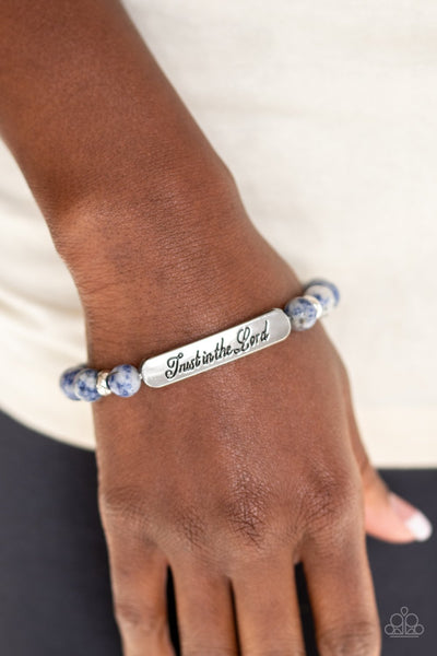 Paparazzi Keep The Trust - Blue Inspirational Bracelet - A Finishing Touch