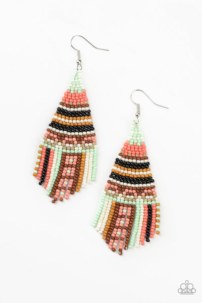 Paparazzi Beaded Bohemian - Green - A Finishing Touch
