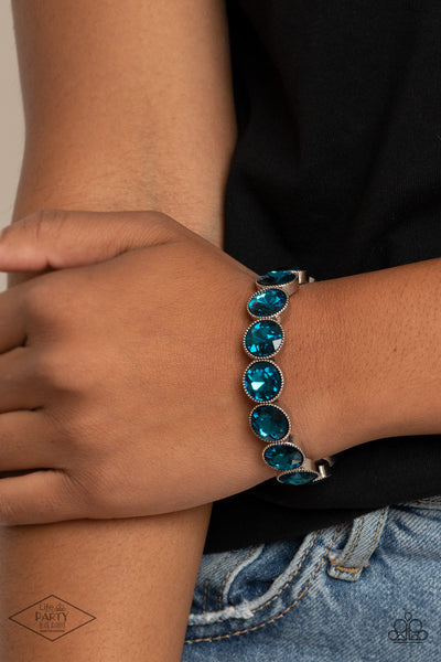 Paparazzi Number One Knockout - Blue Bracelet - A Finishing Touch
