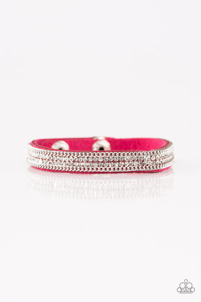 Paparazzi Babe Bling - Pink Bracelet - A Finishing Touch