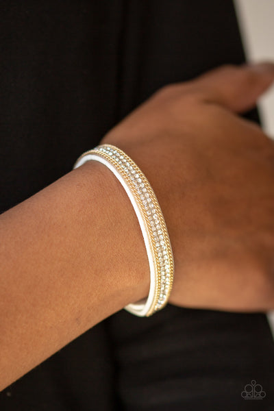 Paparazzi Babe Bling - Gold Bracelet - A Finishing Touch