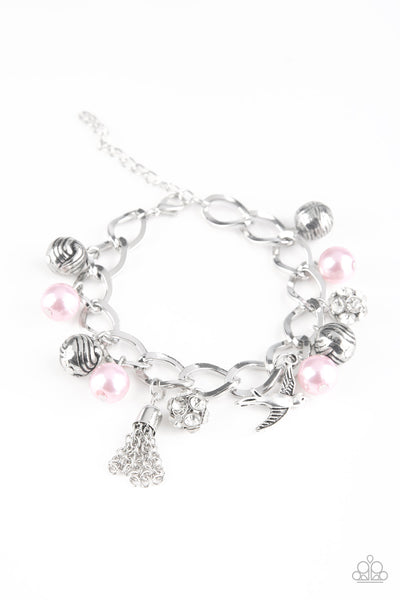Paparazzi Lady Love Dove - Pink Pearls Bracelet - A Finishing Touch