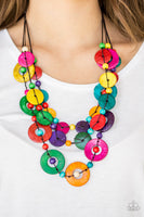 Paparazzi Catalina Coastin - Multi Wooden Necklace - A Finishing Touch