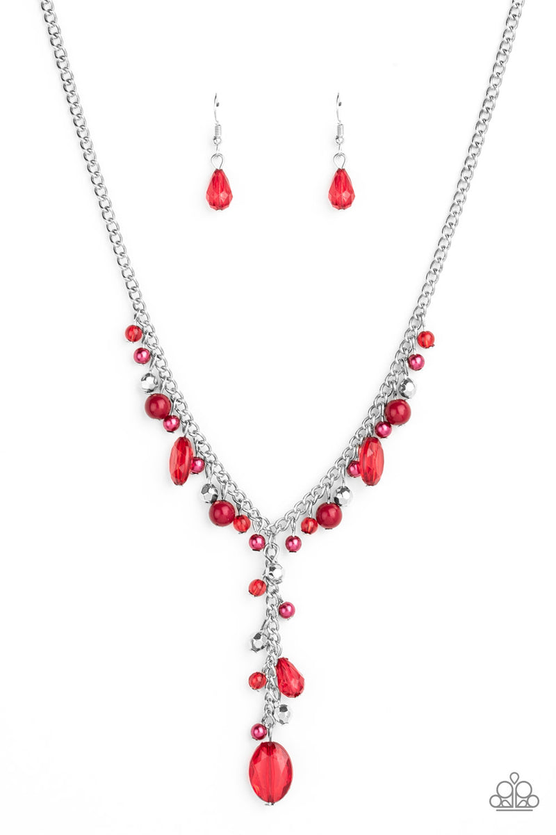 Crystal Couture - red - Paparazzi necklace - JewelryBlingThing